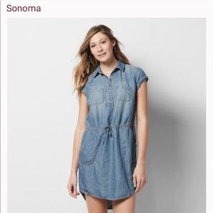 Sonoma Chambray Short Sleeve Dress